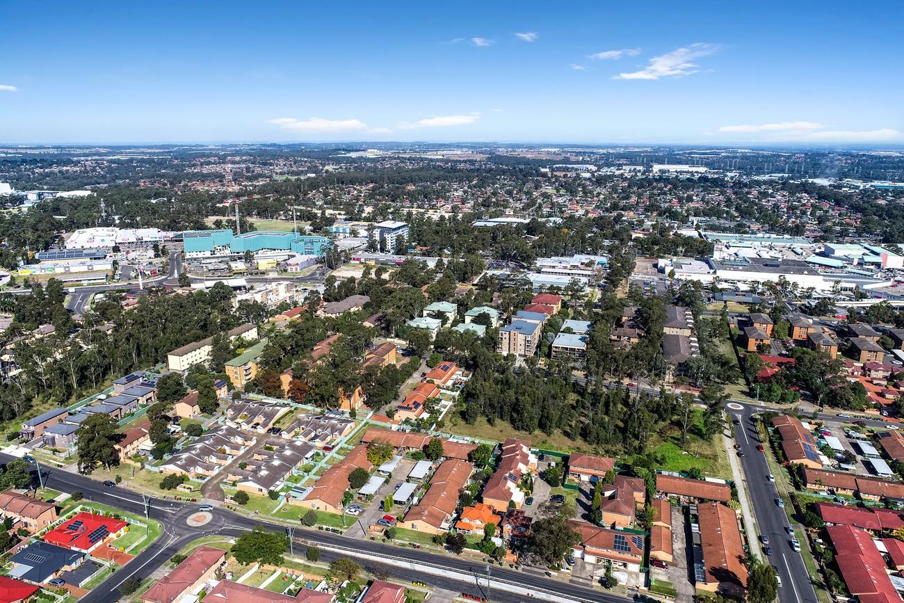 Aerial shot of Mount Druitt provided by Digital1